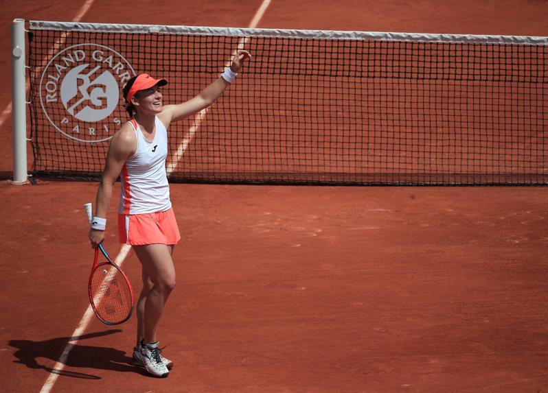 斯洛維尼亞女網選手齊丹塞珂,闖進法網女單八強。
