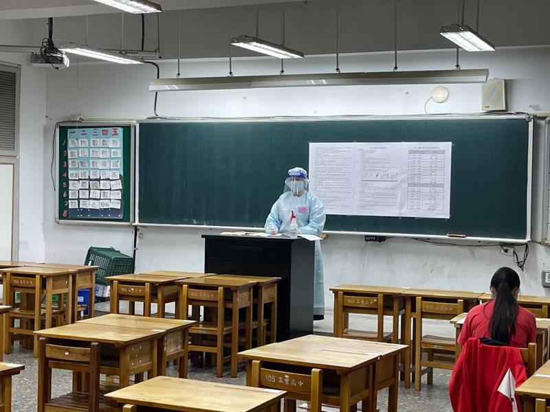 國中會考補考第二天考自然,缺考人數16人,到考率97. 4%。圖/教育部提供