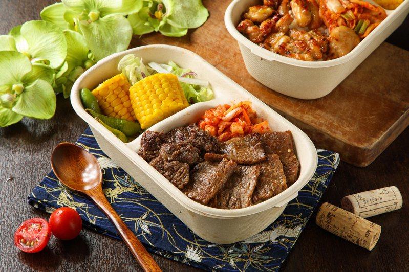 胡同燒肉推出「招牌牛五花蓋飯」等多種口味蓋飯,外帶65折。圖/橘焱餐飲提供