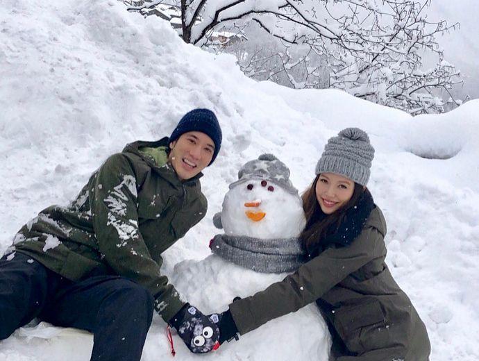 王力宏與老婆李靚蕾。 圖/擷自王力宏IG