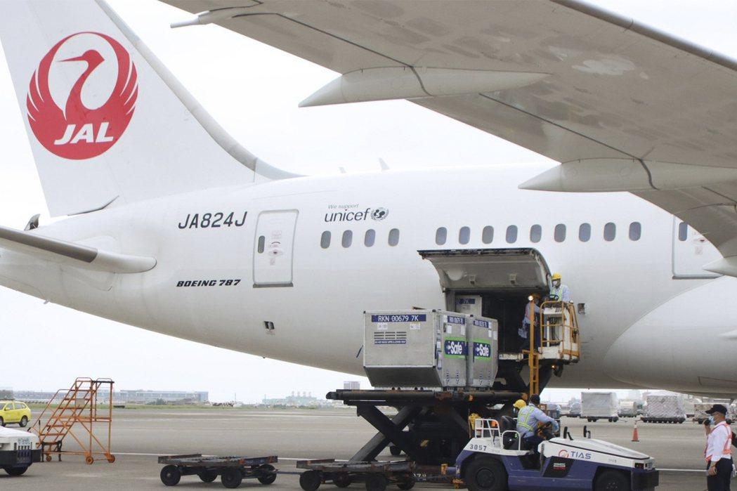 在疫情嚴峻時刻,日本政府於6月4日贈送台灣124萬劑AZ疫苗。 圖/美聯社