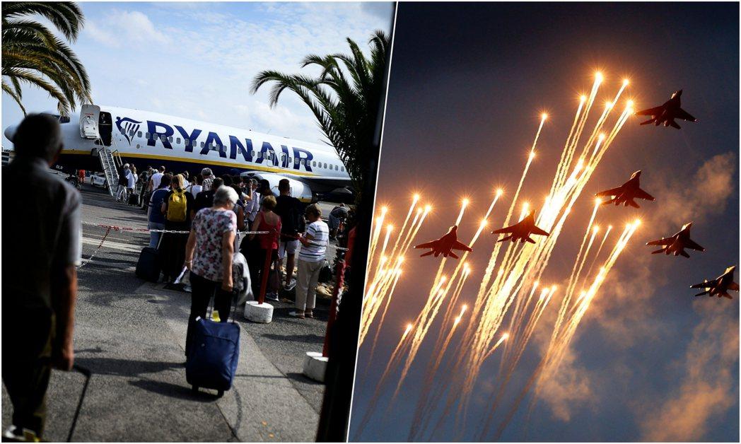 圖/路透社:瑞安航空FR 4978航班在白俄羅斯空域被「戰機攔截降落」事件,目前...