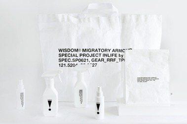 極簡抗疫選物:CAFE!N聯名WISDOM,INLIFE系列酒精噴瓶、外帶餐袋登場