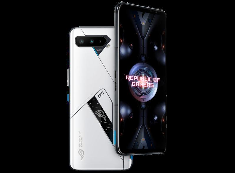 華碩電競手機ROG Phone 5 Ultimate(極光白)電競手機,6月8日中午12點起限量開放預購。圖/翻攝自ASUS網站