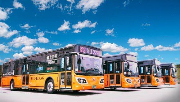 12輛582路線「抗疫2.0」電動公車今日正式上路。圖/新北市交通局提供
