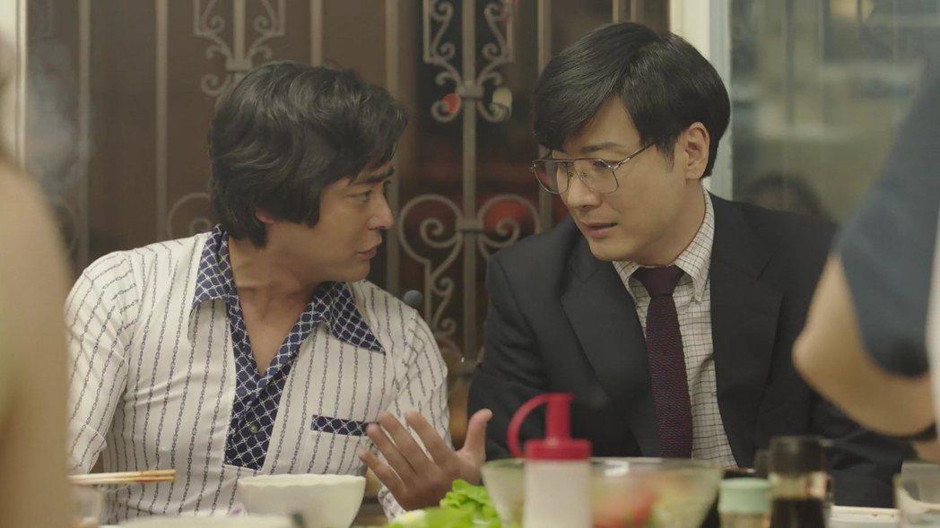 玉山鐵二(右)原本是山田孝之的事業夥伴。圖/Netflix提供