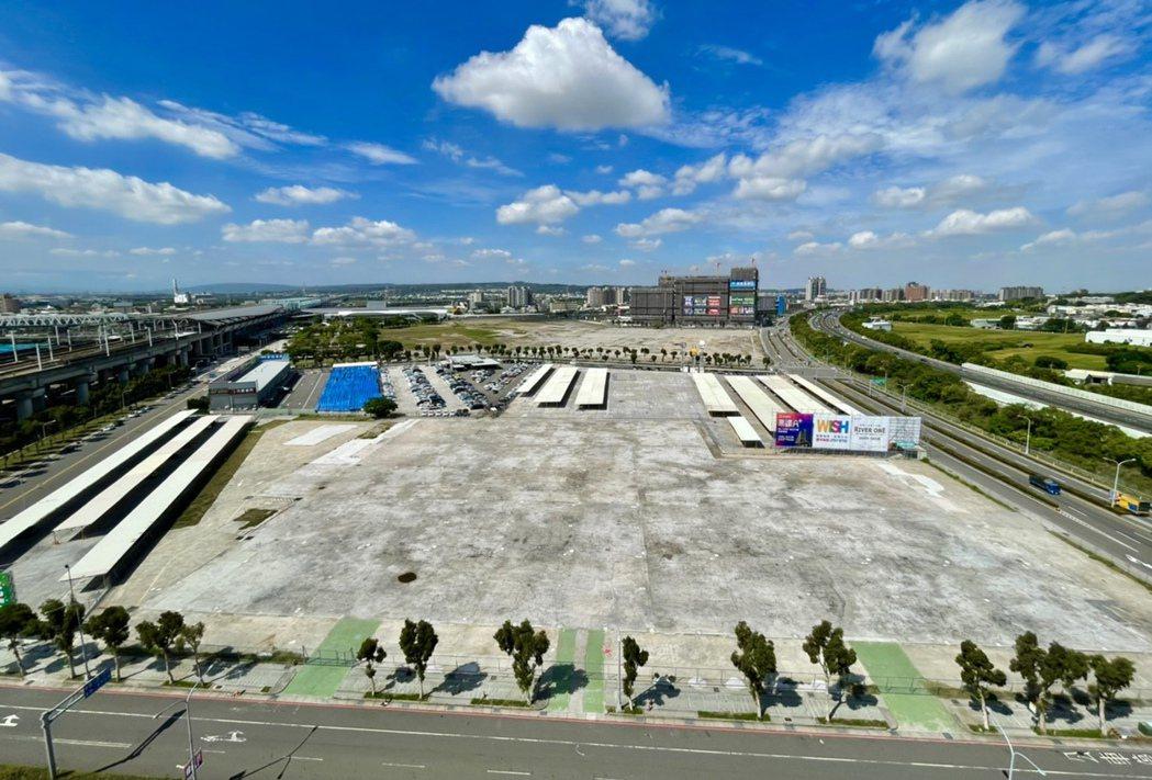 富旺國際取得新高鐵段5,429坪土地使用權,將規劃興建購物商場與飯店。記者宋健生...