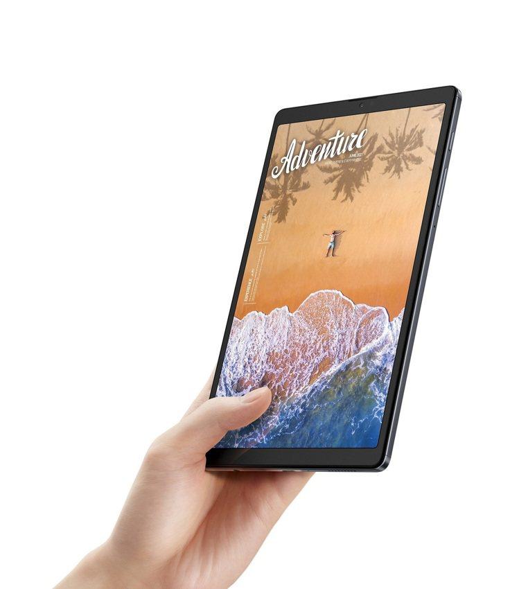 三星Galaxy Tab A7 Lite輕巧智慧隨行,為最佳小學伴。圖/台灣三星...
