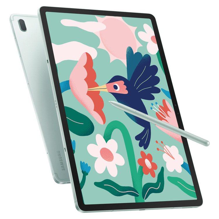 三星Galaxy Tab S7 FE 5G打造居家辦公、學習即戰力。圖/台灣三星...