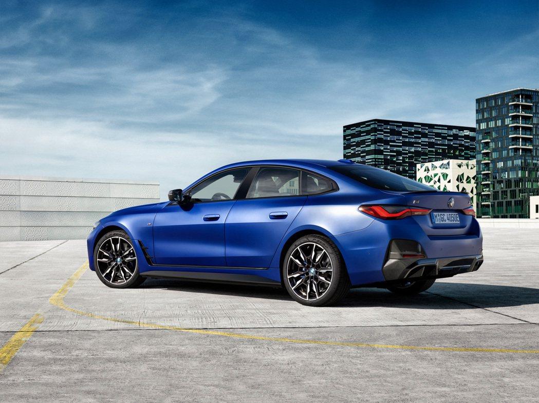全新BMW i4 M50,品牌第一款純電M系列。 摘自BMW