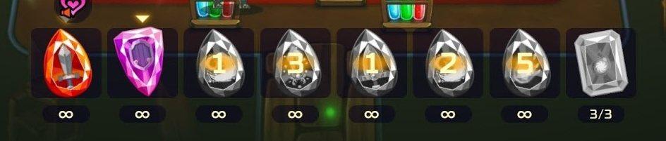 下排這個就是技能寶石,每回合之初可以選一個使用