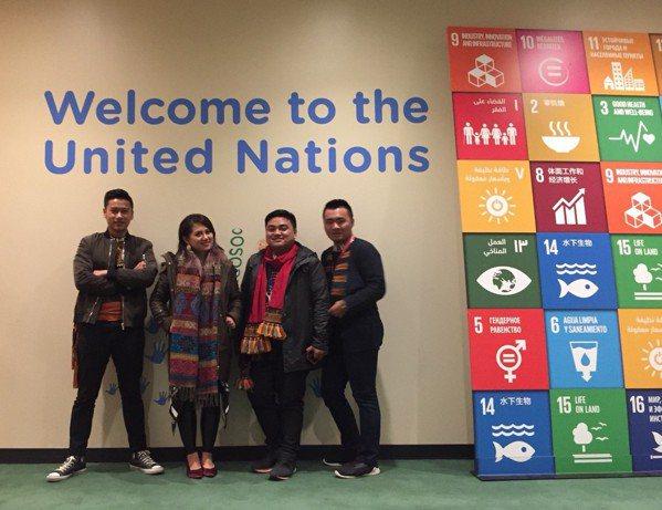 洪簡廷卉與夥伴參與2018聯合國原住民議題常設論壇(UNPFII)。 圖/洪簡廷...