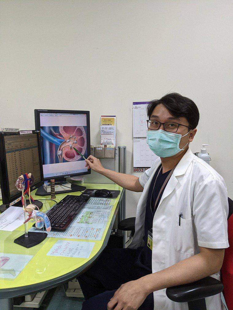 尿路結石可源自於腎臟、膀胱、輸尿管、尿道等,其中腎臟結石最為常見。 圖/楊哲瑞醫...