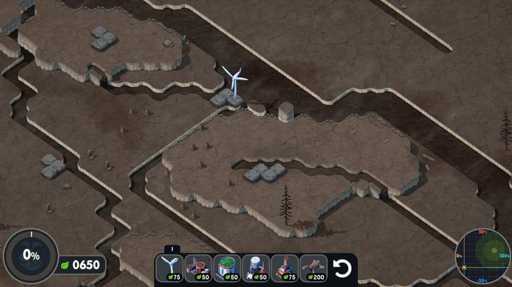 玩家們的星球一開始是荒蕪的。