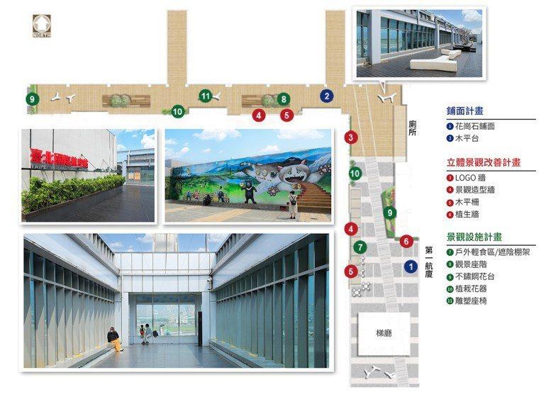 松山機場觀景台。 圖/臺北松山機場