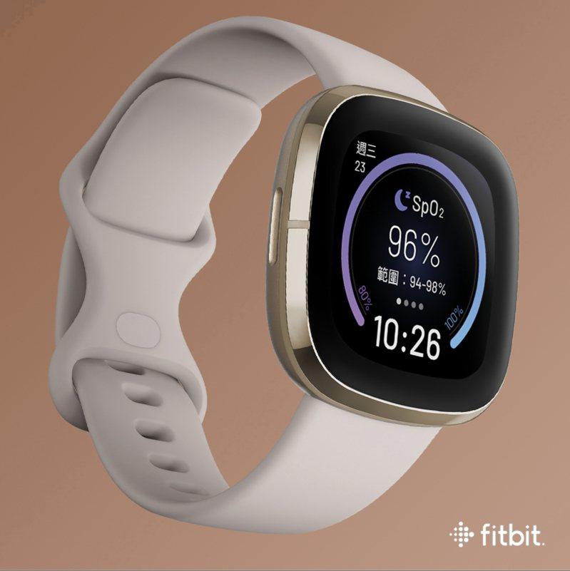 Fitbit全新推出的Fitbit SpO2 Signature表面,讓用戶可直接在手表上檢視個人血氧飽和度。圖/Fitbit提供