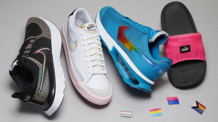 Nike表達挺平權態度的Be True系列,使用9款不同的LGBTQIA+象徵旗...