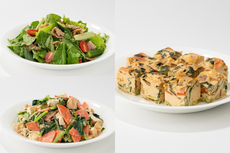 Café&Meal MUJI便當,還搭配3種配菜。圖/Café&...