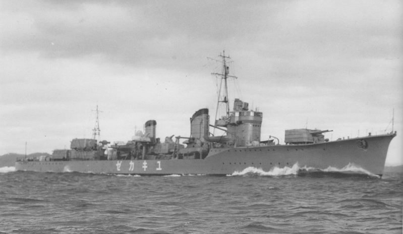 1939年底,雪風號驅逐艦服役前在海上測試的照片。圖/取自維基百科