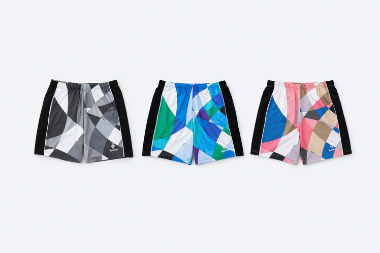 Supreme與Emilio Pucci聯名系列印花短褲。圖/摘自Supreme...