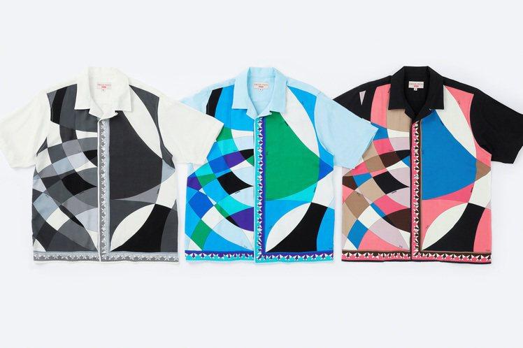 Supreme與Emilio Pucci聯名系列印花襯衫。圖/摘自Supreme...