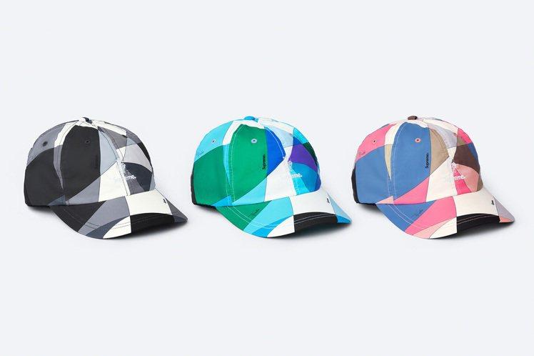 Supreme與Emilio Pucci聯名系列印花帽。圖/摘自Supreme官...