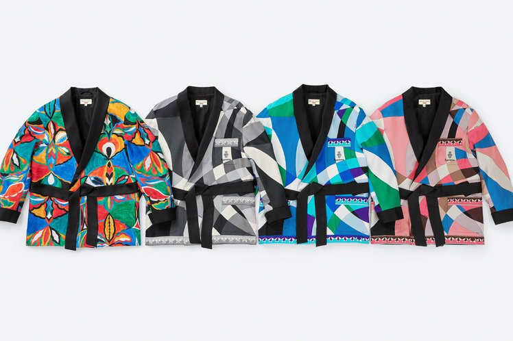 Supreme與Emilio Pucci聯名系列印花晚宴外套。圖/摘自Supre...