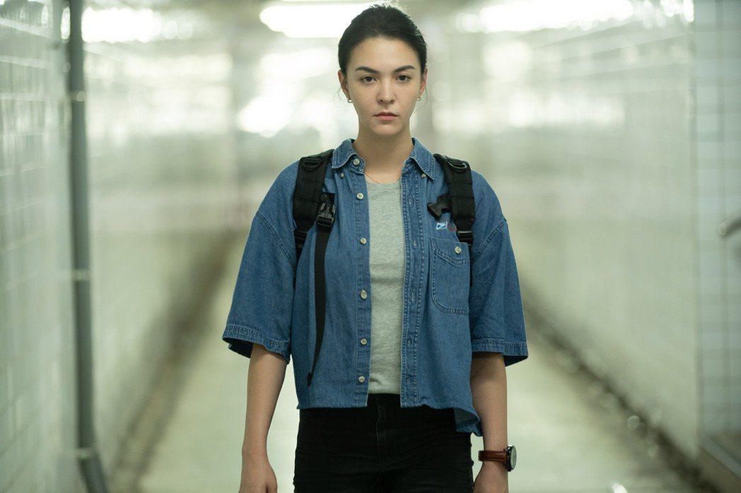 張榕容在「第三佈局  塵沙惑」影集中,飾演一名刑警小隊長。圖/CATCHPLAY