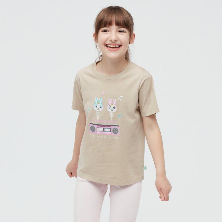 UNIQLO集合啦!動物森友會UT系列童T恤390元。圖/UNIQLO提供