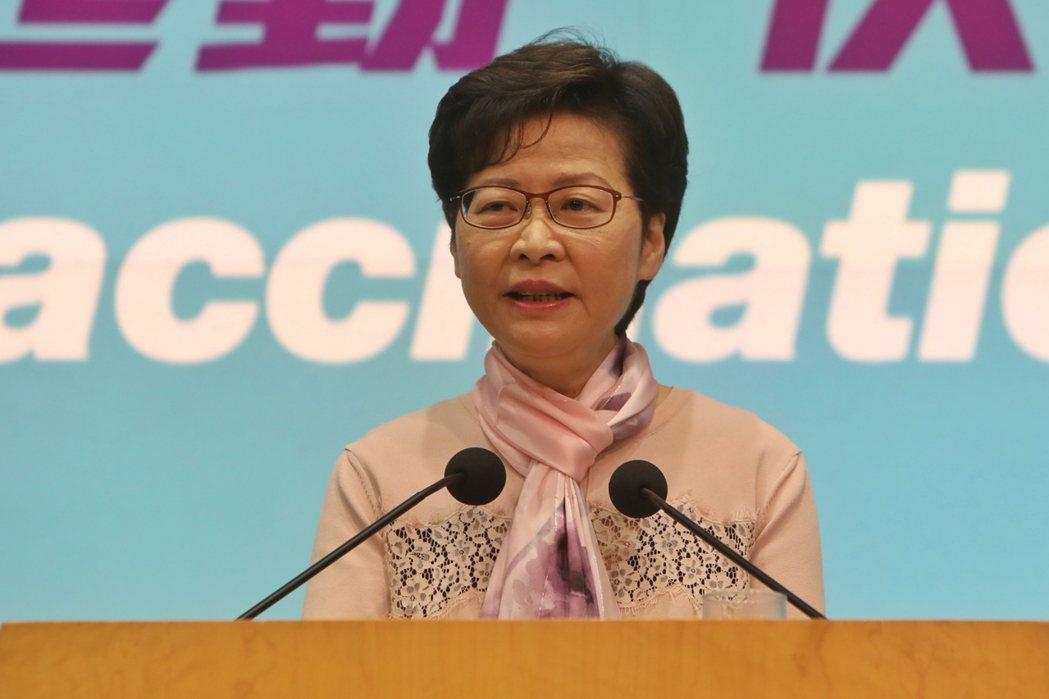 6月8日上午,香港特首林鄭月娥出席行政會議前會見傳媒時表示,對香港再現源頭未明的...