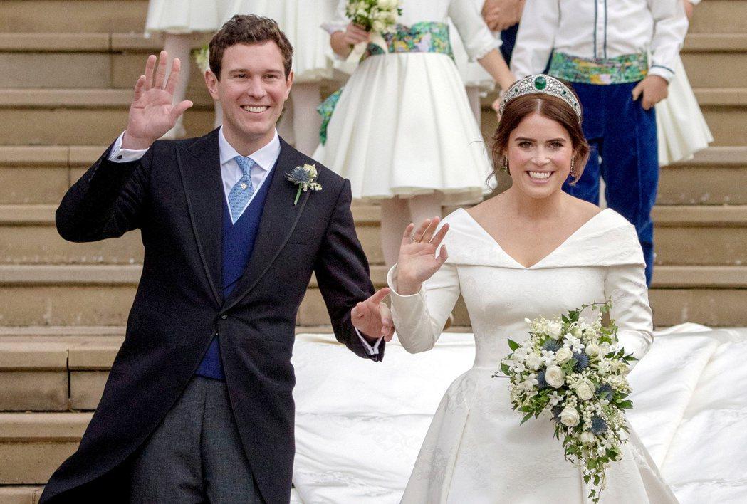 尤琴妮公主與丈夫傑克都還和她的小堂哥、堂嫂保持不錯關係。圖/路透資料照片