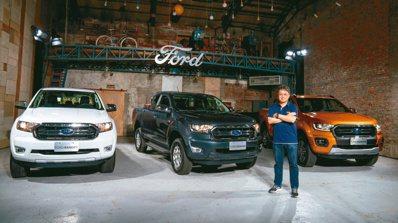 福特六和市場營銷暨顧客服務副總蘇嘉明率先引進美式正宗皮卡Ranger。 福特...