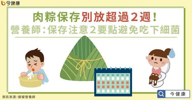 肉粽保存別放超過2週!營養師:保存注意2要點避免吃下細菌