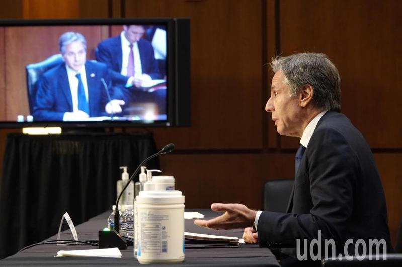 美國國務卿布林肯(Antony Blinken)在參議院表示,當美國關注大型武器系統,也應當將注意力集中在協助台灣強化不對稱戰力,他也提到改革後備軍力。記者張文馨/攝影