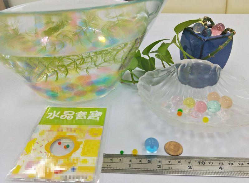 俗稱「水晶寶寶」的丙烯酸高分子聚合物。圖/中國醫藥大學兒童醫院提供