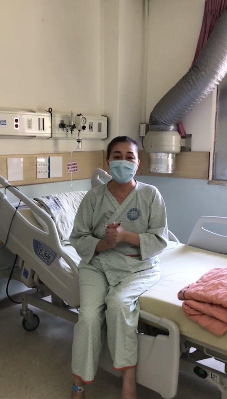 60歲的黃女士是「北病南送」的病患,於台中榮總治療。圖/台中榮總提供