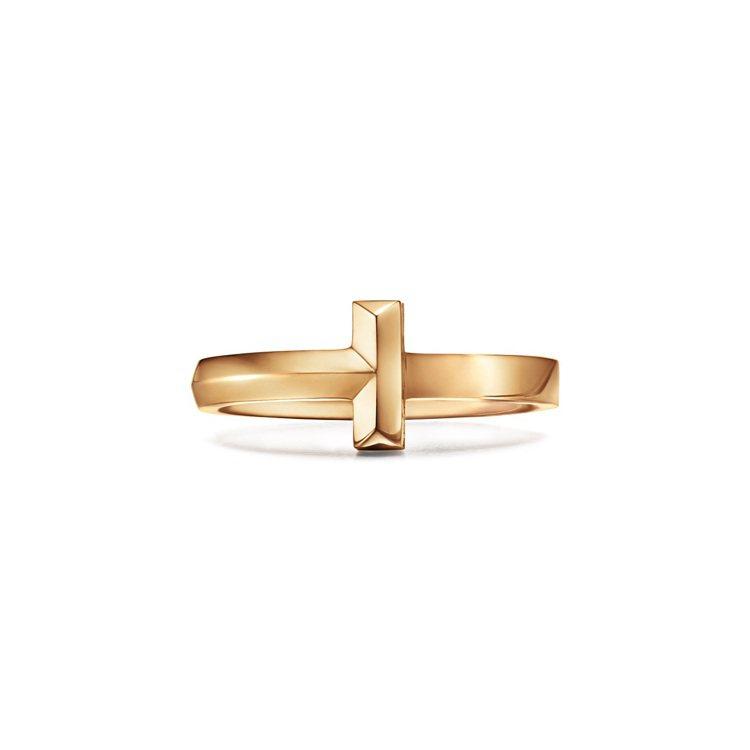 Tiffany T1 18K金窄版戒指,35,000元。圖/Tiffany提供