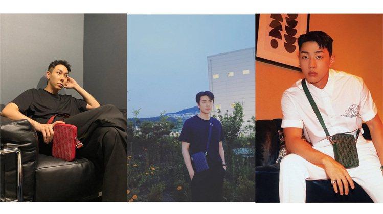 韓星Loco、世勳、Gray詮釋Dior World Tour系列新品。圖/取自...