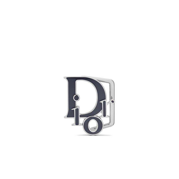 Dior World Tour湛洋藍琺瑯金屬腰帶扣,11,000元。圖/DIOR...