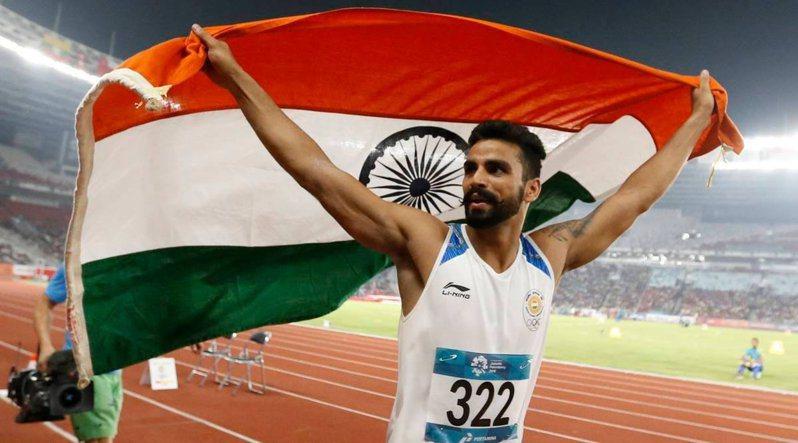 印度國家代表隊的田徑選手,在過去都是穿著李寧提供的服飾出戰國際賽事。圖/摘自印度奧運委員會twitter