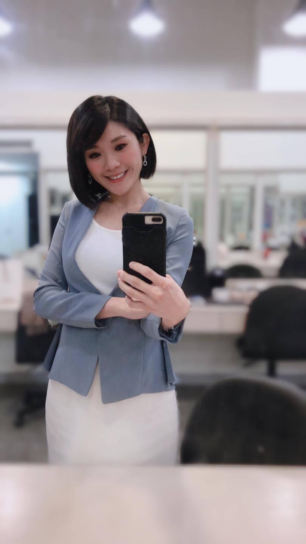 壹電視主播趙惠雯也快篩陽性。圖/摘自臉書