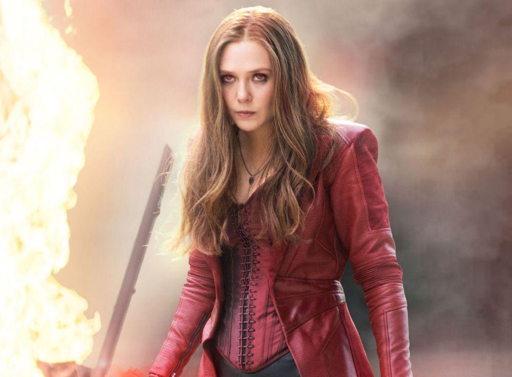 伊莉莎白歐森以漫威電影系列的「緋紅女巫」一角廣為人知。圖/摘自推特