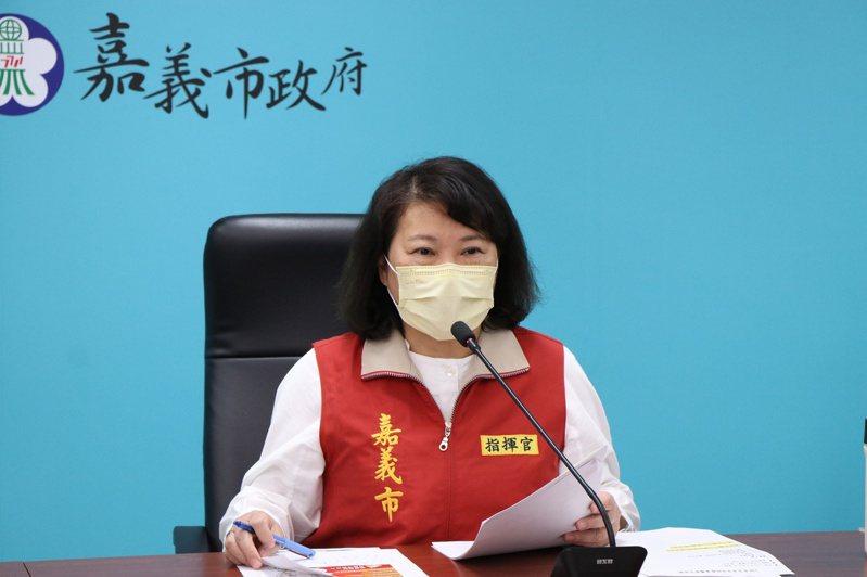 嘉市長黃敏惠今天說明移工防疫措施。圖/嘉義市政府提供