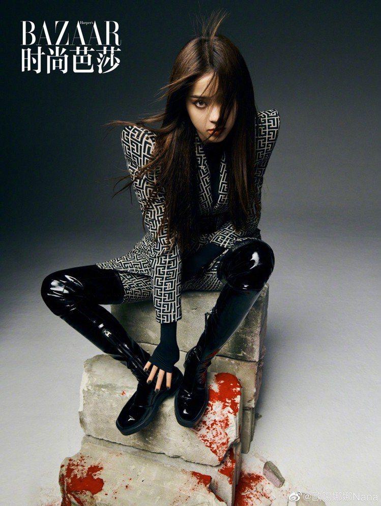 歐陽娜娜拍攝大陸版《Mini BAZAAR》6月號封面時,身穿GIVENCHY ...