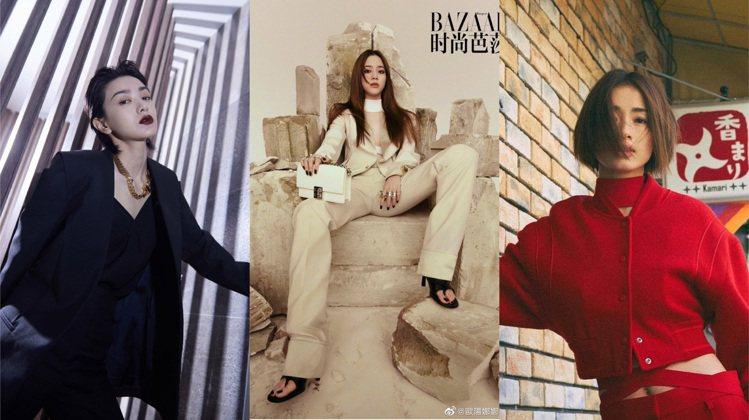 郭采潔、歐陽娜娜和日本女星上戶彩身穿GIVENCHY當季時裝。圖/取自IG@fa...