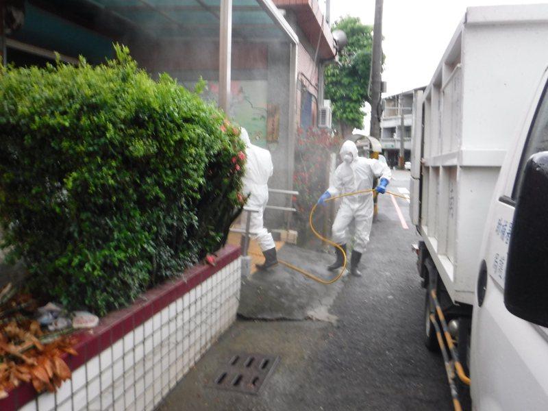 台南市大內區昨天添確診病例,相關足跡都已完成清消。圖/台南市政府提供