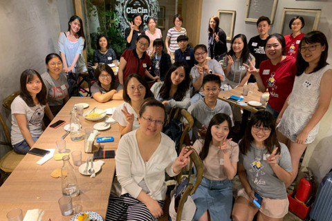 Pyladies Taiwan團隊成員聚會。 圖/Pyladies Taiwan...