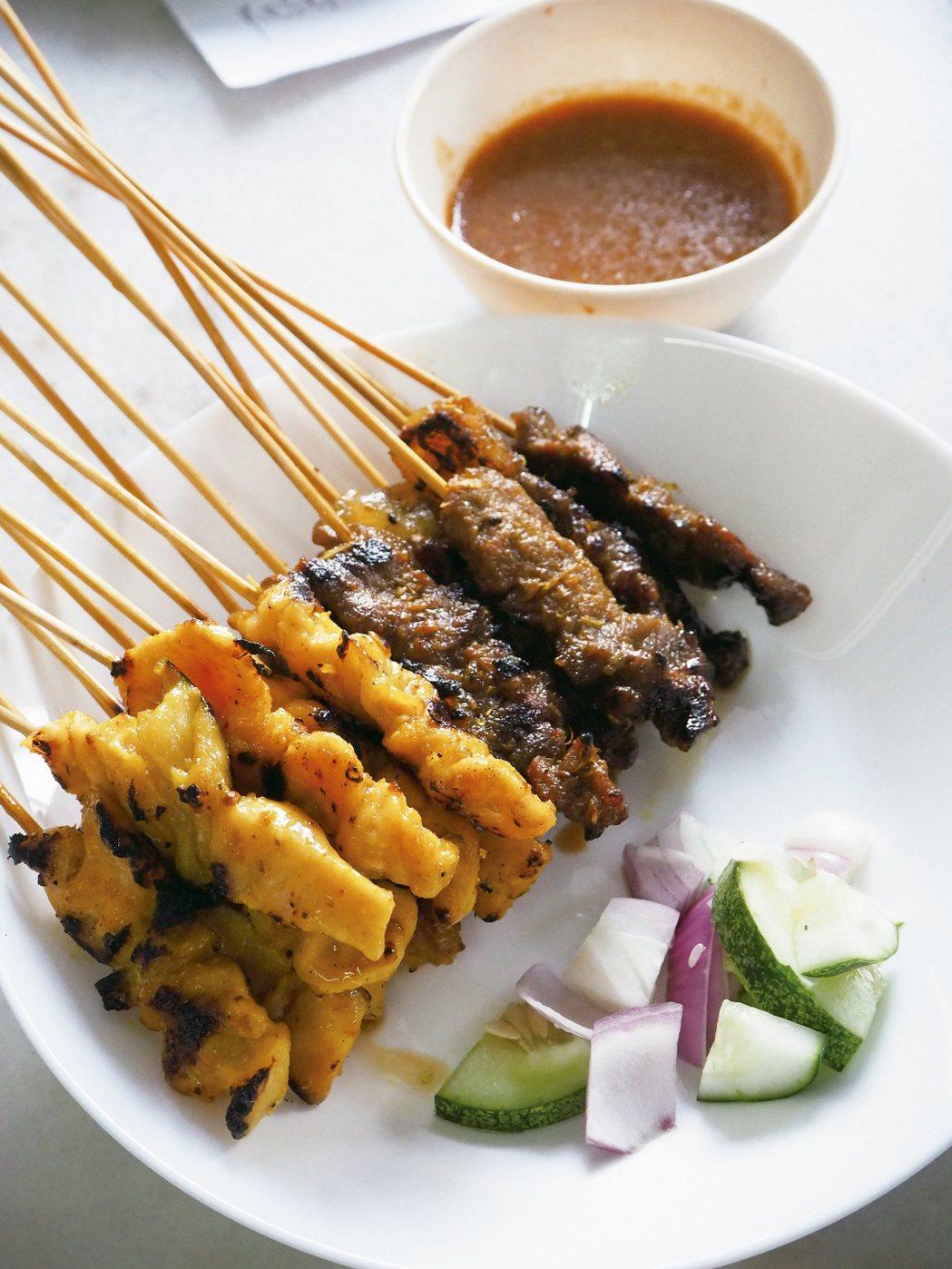 馬六甲的沙嗲肉串。圖/麥浩斯提供