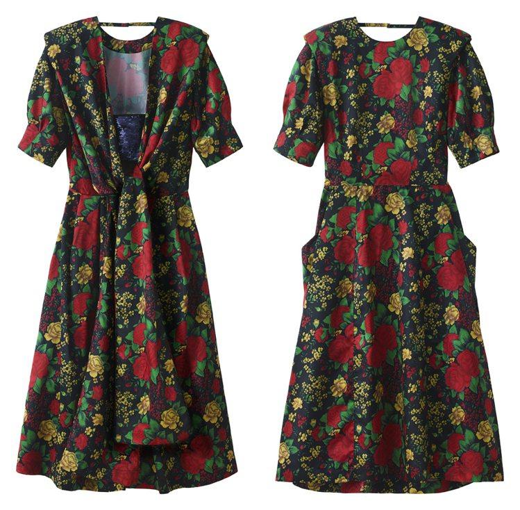 H&M率先曝光即將推出的TOGA ARCHIVES聯名系列女裝連身裙。圖...