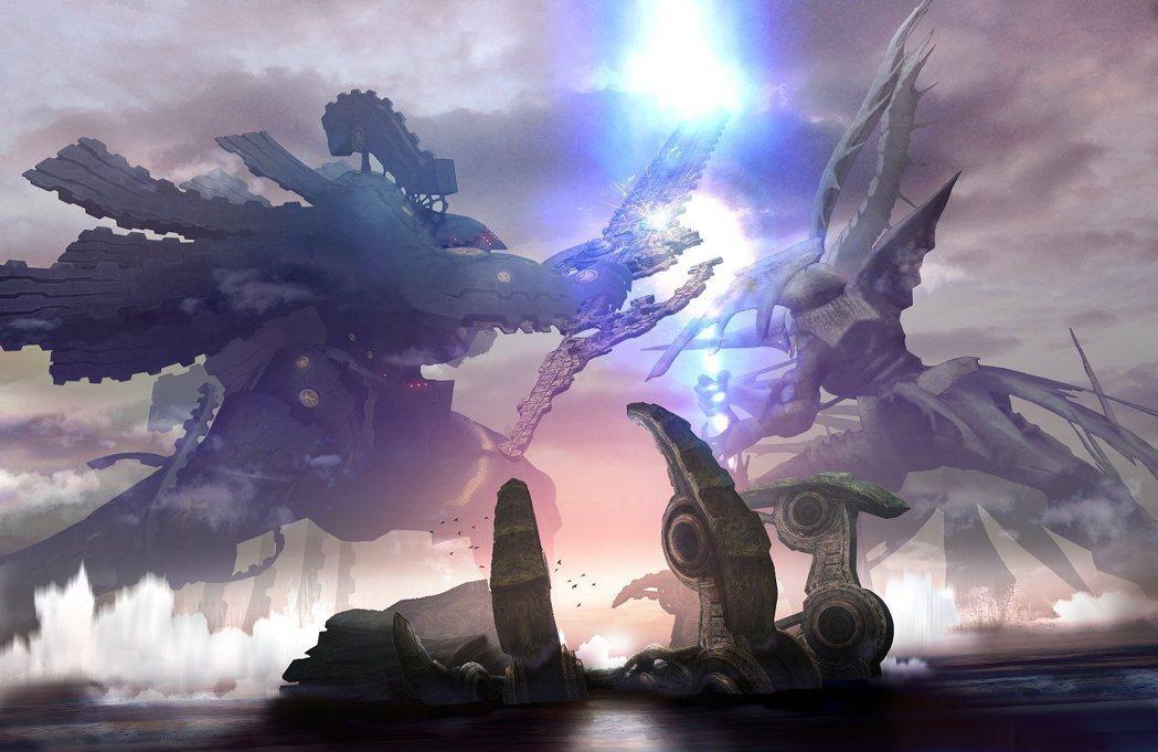遊戲由遠古時期的兩大神明:巨神和機神的爭鬥為開端。
